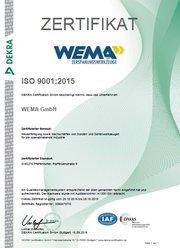Zertifizierung gem. DIN EN ISO 9001:2015