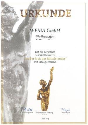WEMA Großer Preis des Mittelstands -Jurystufe